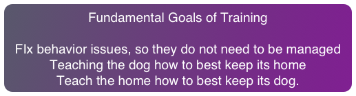 Fundamental Goals of Training